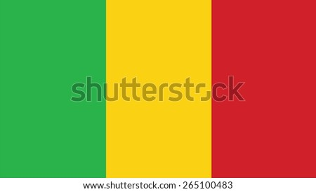 mali Flag for Independence Day and infographic Vector illustration. - stock vector