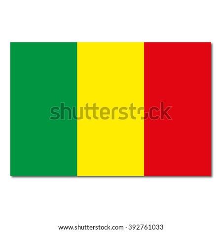 Mali Flag Icon Button - stock vector