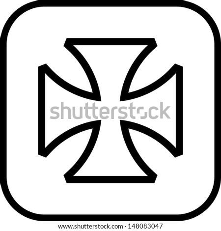Maltese cross vector icon  - stock vector