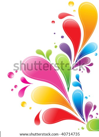 malty color floral retro card design with place of sample text, vector illustration - stock vector