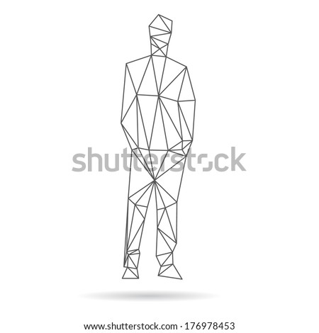 Man abstract isolated on a white backgrounds - stock vector