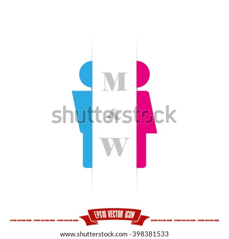 Man and Woman Icon. Man and Woman Icon EPS10. Man and Woman Icon JPEG. Man and Woman Icon Art. Man and Woman Icon Image. Man and Woman Icon JPG. Man and Woman Icon AI. Man and Woman Icon Drawing - stock vector