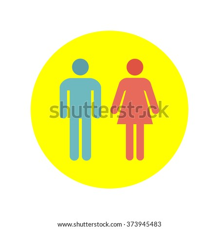 Man and Woman Icon Vector. Man and Woman Icon JPEG. Man and Woman Icon Art. Man and Woman Icon Image. Man and Woman Icon JPG. Man and Woman Icon EPS. Man and Woman Icon AI. Man and Woman Icon Drawing - stock vector