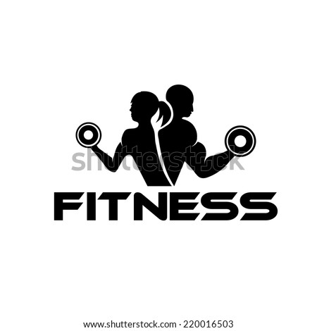 man and woman of fitness silhouette character  - stock vector