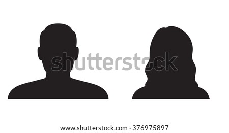 Man and woman silhouette - stock vector
