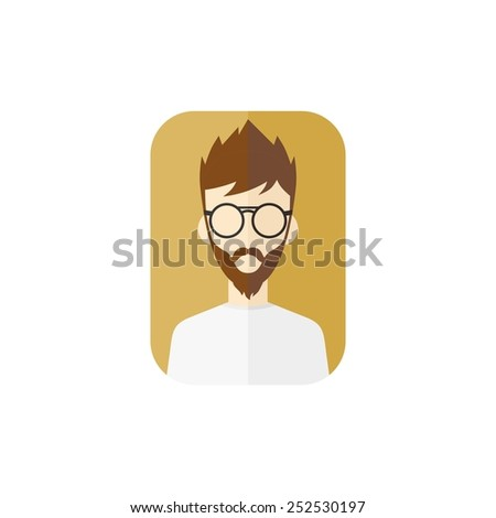man avatar user picture - cartoon character - stock vector
