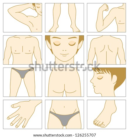 Man Body Part Name With Picture Man Body Parts