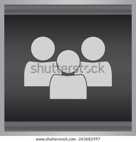 Man icon, people vector illustration. Flat design style. - stock vector