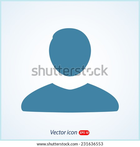 man icon, vector illustration. Flat design style  - stock vector