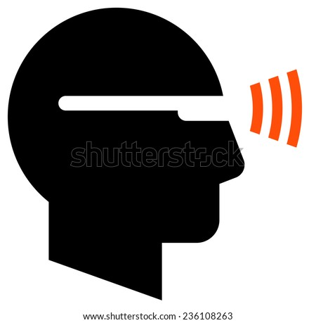 Man in smartglasses icon - stock vector