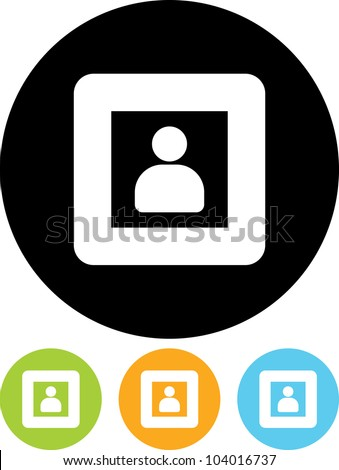 Man in window - Vector icon isolated - stock vector