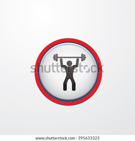 Man lifting weights icon - stock vector