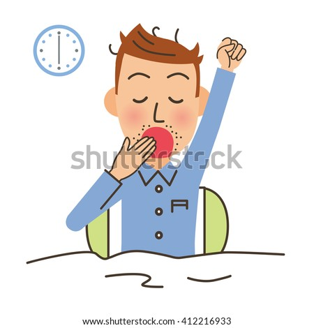 Man of the lying down and getting up - stock vector