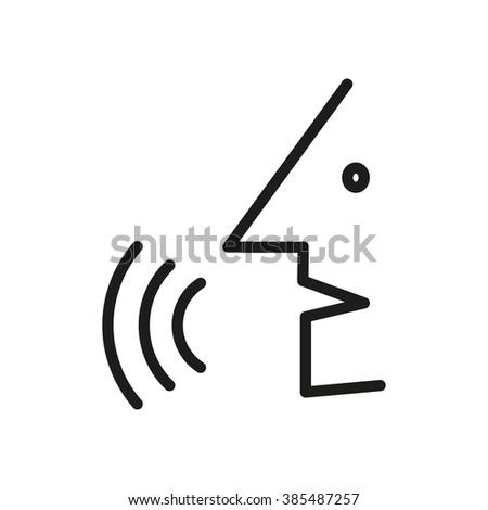 Man says vector icon. Simple black white icon. EPS10 - stock vector