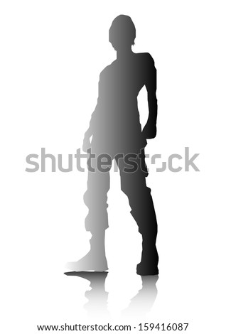 Man Silhouette - stock vector
