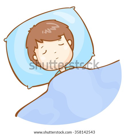man sleeping well vector illustration - stock vector