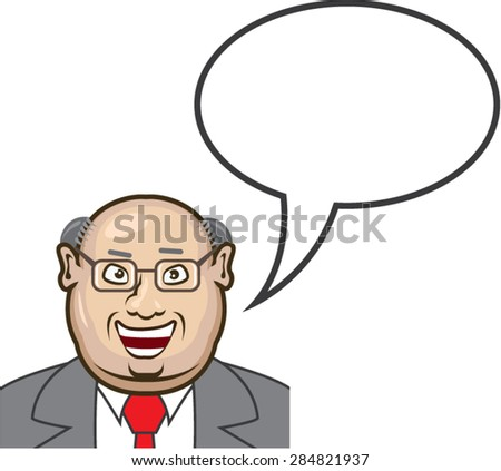 Man speaking  Bubble for text Vector - stock vector