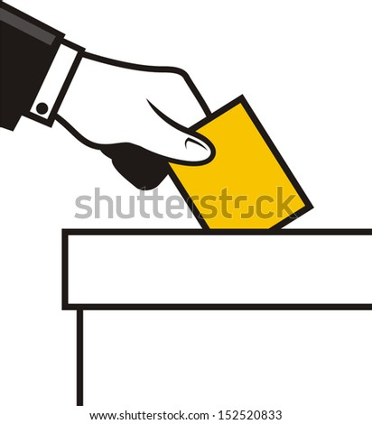 Man voting symbol - stock vector