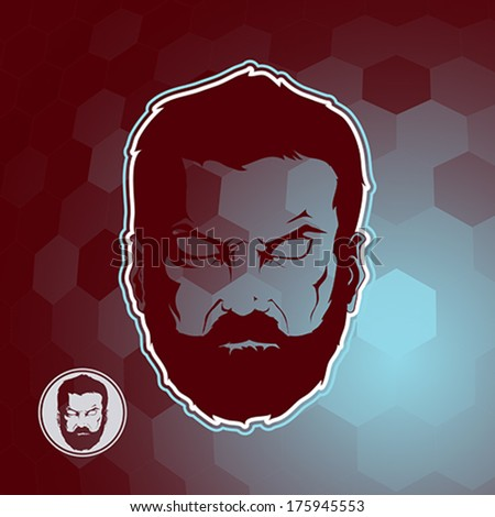 Man with beard  - stock vector