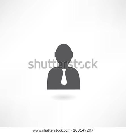 man with tie icon - stock vector