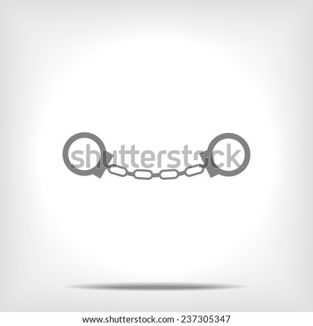 manacles icon - stock vector