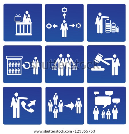 Management, human resources, business persons,Vector - stock vector