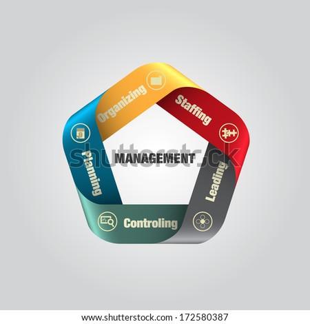 Management processing diagram, vector illustration - stock vector