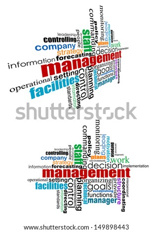 Management tags cloud in straight and bent form for web design. Jpeg version also available in gallery - stock vector