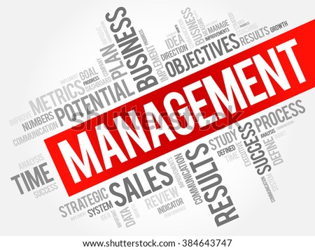 Management word cloud, business concept background - stock vector
