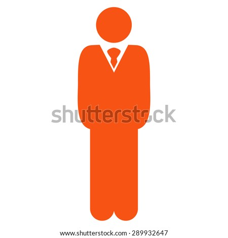 Manager icon from Business Bi-color Set. This flat vector symbol uses orange color, rounded angles, and isolated on a white background. - stock vector