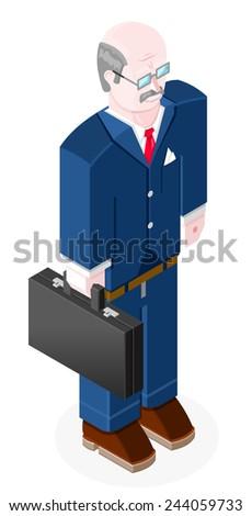 Managing Director or Senior Business man. Male Managing Director.  - stock vector