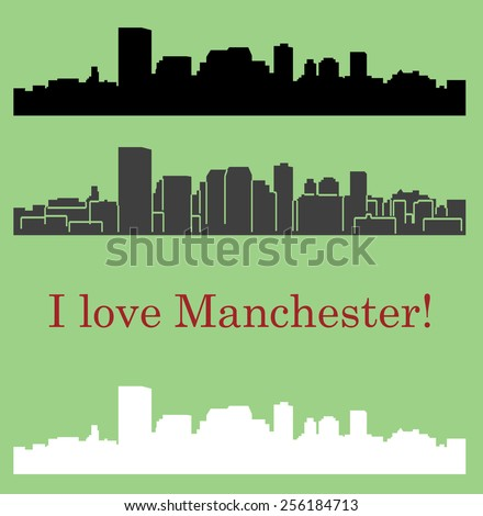 Manchester (city silhouette) - stock vector