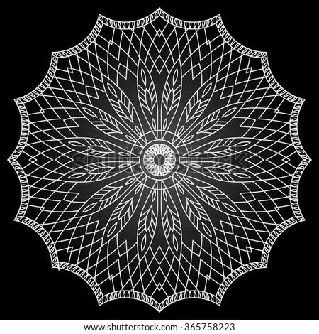 Mandala. Dreamcatcher. Ethnic decorative elements. Islam, Arabic - stock vector