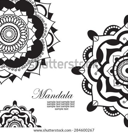 Mandala.Pagan symbol. Schematic representation of the sacred - stock vector