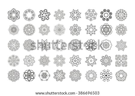 Mandala. Round ornament. Vintage decorative elements.Circular pattern of traditional motifs and ancient oriental ornaments. Hand drawn background. - stock vector