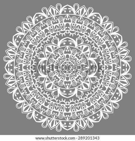 Mandala, tribal ethnic ornament, vector islamic arabic indian pattern. - stock vector