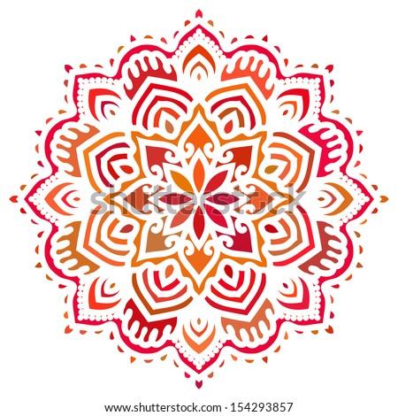 Mandala. Vector Circle Ornament. Design Element - stock vector
