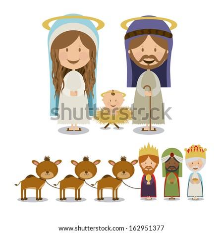 manger design over white background vector illustration  - stock vector