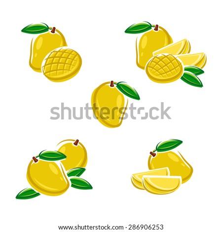 Mango set. Vector - stock vector