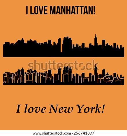 Manhattan, New York - stock vector