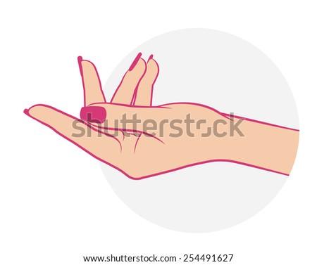 Manicure, hand care icon - stock vector