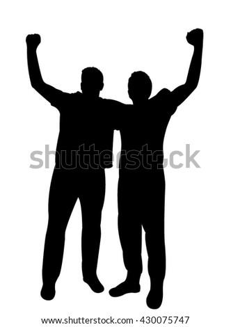 manifestation - two men protesting  - stock vector