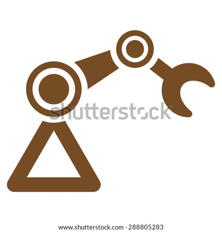Manipulator icon from Business Bicolor Set. This flat vector symbol uses brown color, rounded angles, and isolated on a white background. - stock vector