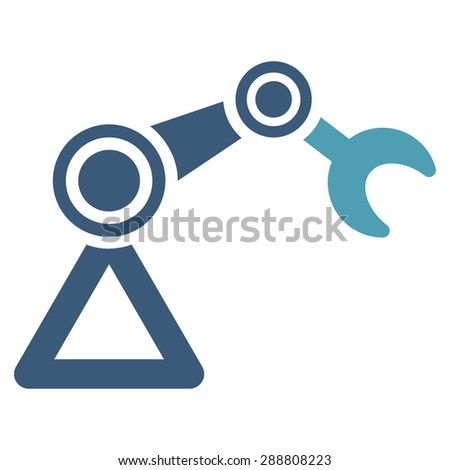 Manipulator icon from Business Bicolor Set. This flat vector symbol uses cyan and blue colors, rounded angles, and isolated on a white background. - stock vector