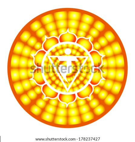 Manipura chakra round vector illustration - stock vector