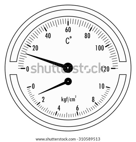 Manometer. Vector isolated on white. - stock vector