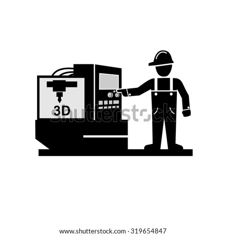 Manufacturing Factory Production  Icons   - stock vector