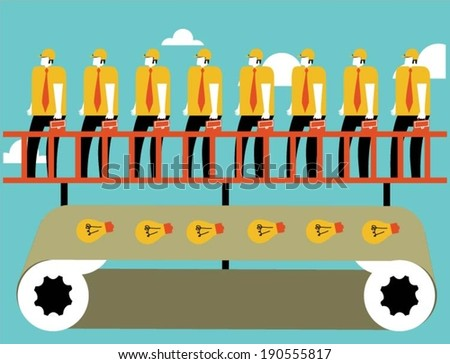 Manufacturing ideas - stock vector