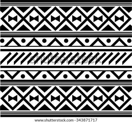 Maori / Polynesian Style bracelet tattoo pattern - stock vector