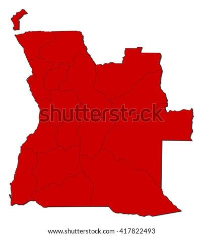 Map - Angola - stock vector
